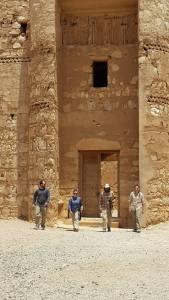 exiting Qasr Kharaneh