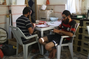 Abd and Ahmad organizing flotation